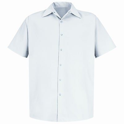 Red Kap Men's Specialized Pocketless Work Shirt SSL x XL, White