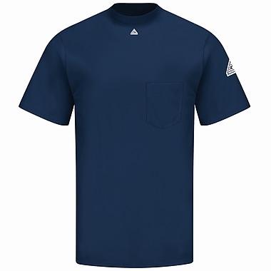 Bulwark Men's Short Sleeve Tagless T-Shirt - EXCEL FR SS x S, Navy