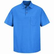 Red Kap Men's Pique Knit Shirt SS x 4XL, Royal blue