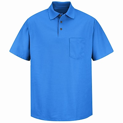 Red Kap Men's Pique Knit Shirt SS x S, Royal blue
