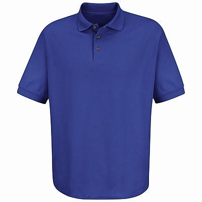 Red Kap Men's Cotton / Polyester Blend Pique Knit Shirt SS x M, Purple