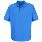 Red Kap Men's Pocketless Pique Knit Shirt SS x 5XL, Royal blue