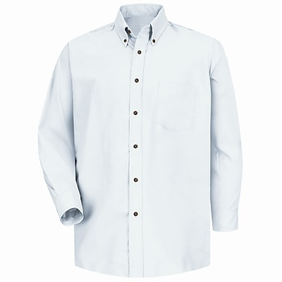 Red Kap Men's Poplin Dress Shirt 3XL x 345, White
