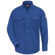Bulwark Men's Snap-Front Uniform Shirt - Nomex IIIA - 4.5 oz. LN x XXL, Royal blue