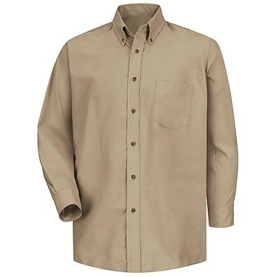 Red Kap Men's Poplin Dress Shirt M x 345, Khaki