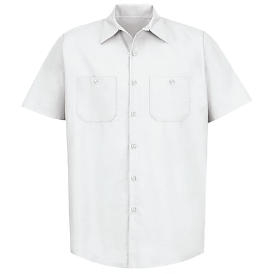 Red Kap Men's Industrial Work Shirt SS x M, White