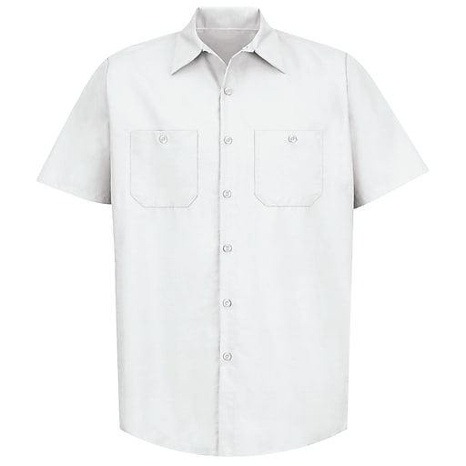 Red Kap Men's Industrial Work Shirt SSL x L, White