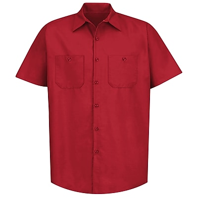 Red Kap Men's Industrial Work Shirt SS x 4XL, Red
