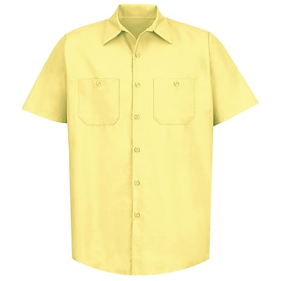 Red Kap Men's Industrial Work Shirt SS x S, Yellow