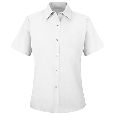Red Kap Women's Specialized Pocketless Work Shirt SS x 3XL, White