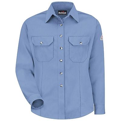 Bulwark Women's Dress Uniform Shirt - CoolTouch 2 - 7 oz. RG x L, Light blue