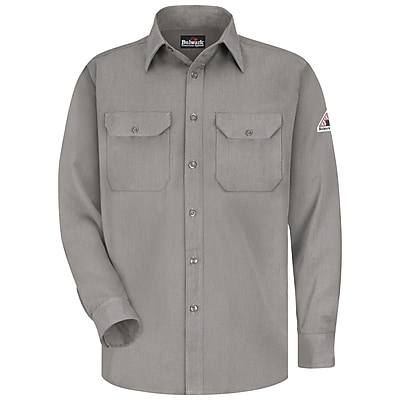 Bulwark Men's Uniform Shirt - CoolTouch 2 - 5.8 oz. RG x L, Grey