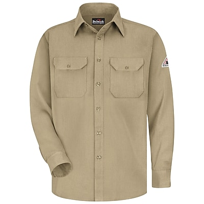Bulwark Men's Uniform Shirt - CoolTouch 2 - 5.8 oz. RG x L, Khaki