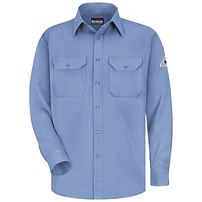 Bulwark Men's Uniform Shirt - CoolTouch 2 - 5.8 oz. RG x 3XL, Light blue