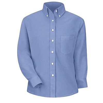 Red Kap Women's Executive Oxford Dress Shirt RG x 18, Light blue