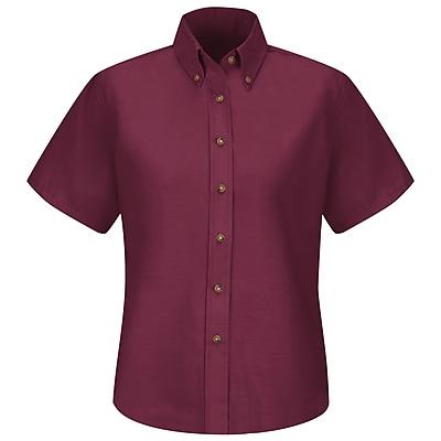 Red Kap Women's Poplin Dress Shirt SS x 12, Burgundy