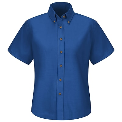 Red Kap Women's Poplin Dress Shirt SS x 10, Royal blue