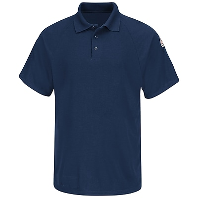 Bulwark Men's Classic Short Sleeve Polo - CoolTouch2 SS x M, Navy