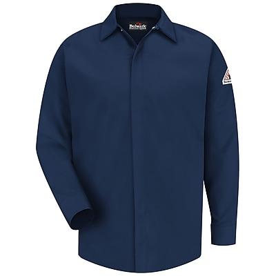 Bulwark Men's Concealed-Gripper Pocketless Shirt - CoolTouch 2 - 7 oz. RG x XXL, Navy
