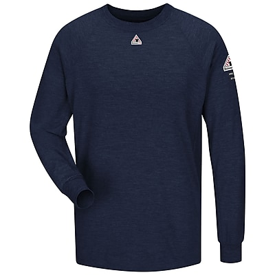 Bulwark Men's Long Sleeve Performance T-Shirt - CoolTouch2 RG x L, Navy