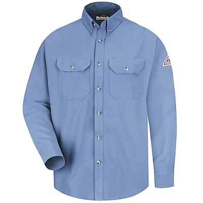 Bulwark Men's Dress Uniform Shirt - CoolTouch 2 - 7 oz. LN x M, Light blue