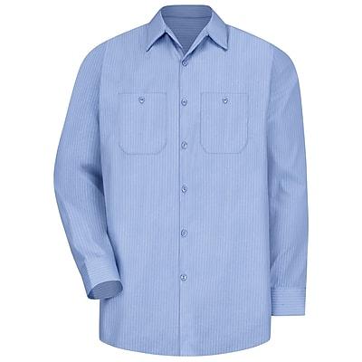 Red Kap Men's Durastripe Work Shirt RG x XL, Medium Blue / Light Blue Twin Stripe