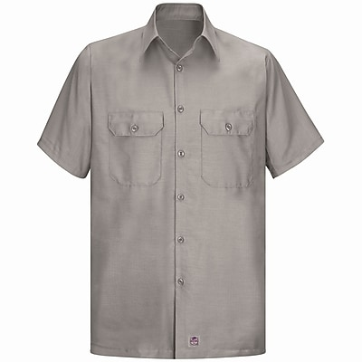 Red Kap Men's Solid Rip Stop Shirt SS x M, Khaki