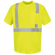 Red Kap  Men's Hi-Visibility Short Sleeve T-Shirt SS x 4XL, Fluorescent Yellow & Green