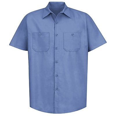 Red Kap Men's Industrial Work Shirt SSL x 4XL, Petrol blue