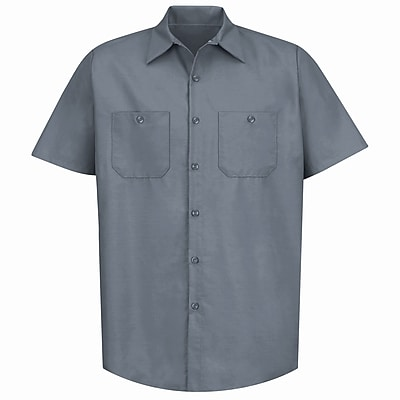 Red Kap Men's Industrial Work Shirt SSL x XXL, Grey