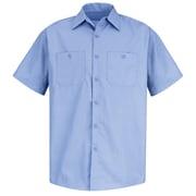 Red Kap Men's Durastripe Work Shirt SS x L, Medium Blue / Light Blue Twin Stripe