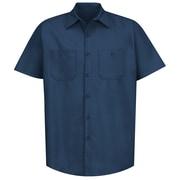 Red Kap Men's Industrial Work Shirt SSL x XXL, Navy