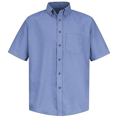 Red Kap Men's Poplin Dress Shirt SSL x XXL, Light blue