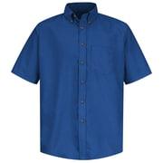 Red Kap Men's Poplin Dress Shirt SS x S, Royal blue