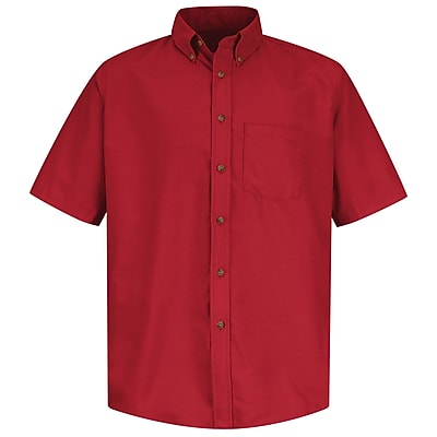 Red Kap Men's Poplin Dress Shirt SSL x L, Red