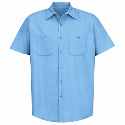 Red Kap Men's Industrial Work Shirt SSL x 5XL, Light blue