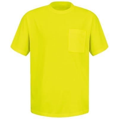 Red Kap Men's Enhanced Visibility T-Shirt SS x XL, Yellow & Green