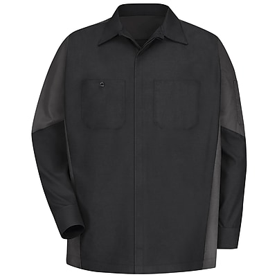 Red Kap Men's Crew Shirt RG x XL, Black / charcoal
