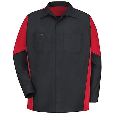 Red Kap Unisex Crew Shirt RG x XXL, Black / red