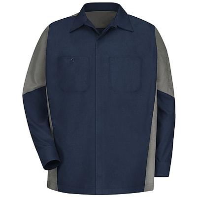 Red Kap Unisex Crew Shirt RG x M, Navy / grey