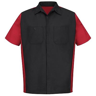 Red Kap Unisex Crew Shirt SSL x XL, Black / red