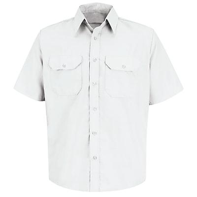 Red Kap Men's Solid Dress Uniform Shirt SS x XL, White