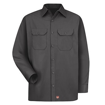 Red Kap Men's Utility Uniform Shirt RG x L, Charcoal