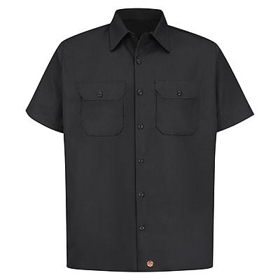 Red Kap Men's Utility Uniform Shirt SS x 3XL, Black