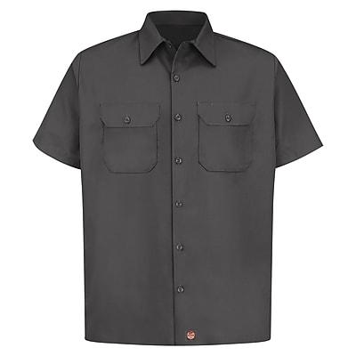 Red Kap Men's Utility Uniform Shirt SS x M, Charcoal