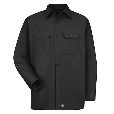 Red Kap Men's Utility Uniform Shirt RG x L, Black