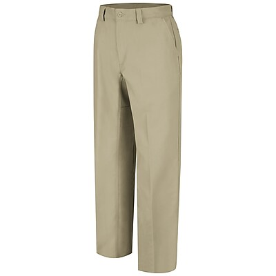 Wrangler Workwear Men's Plain Front Work Pant 34 x 30, Khaki