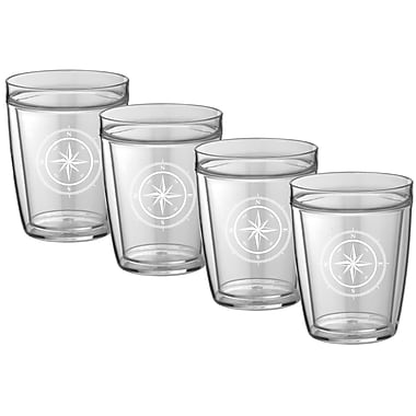 Kraftware Compass Point Everyday Tumbler (Set of 4); 14 oz.