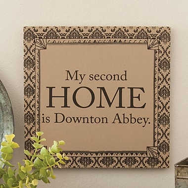 Heritage Lace Downton Life Home Framed Textual Art