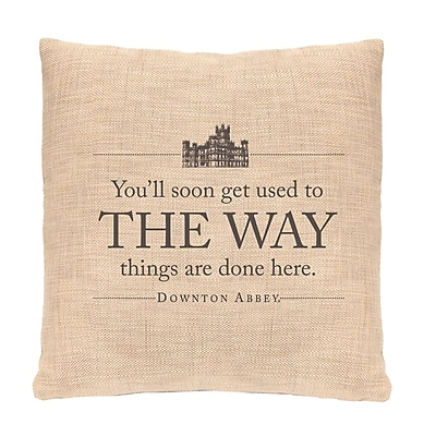 Heritage Lace Downton Abbey The Way Throw Pillow WYF078277263234